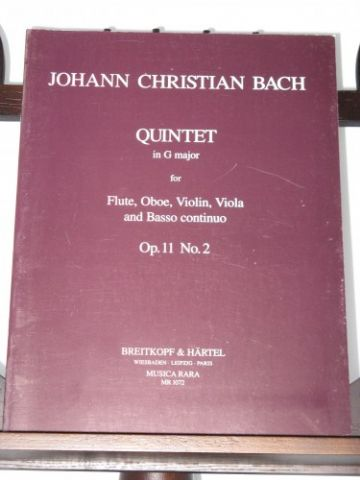 Bach J C - Quintet in G Op 11 No 2